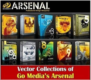Go Media's Arsenal - ( Complete Photoshop Brush Sets 1-14 )