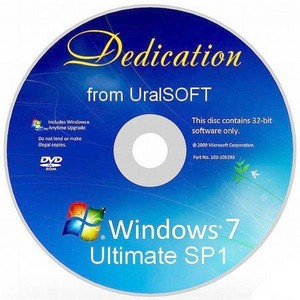 Windows 7 Ultimate SP1 Dedication from UralSOFT x86 Rus