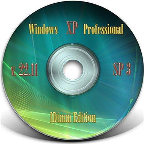 Windows XP SP3 IDimm Edition 22.11 RUS (VLK) Full + Lite