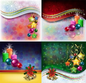 Beautiful Christmas decoration elements