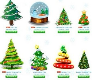 Ёлка на рабочий стол Animated Christmas Tree for Desktop 2012 Portable