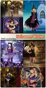 Ведьмочки в Хеллоуин | Helloween Withches (PSD costumes)