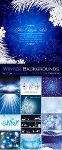 Winter Backgrounds Vector Collection