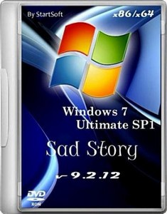 Windows 7 SP1 Sad Story By StartSoft v 9.2.12 (x86/x64/2012/Rus)