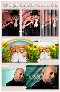 Макросы для Photoshop - Light Streaks