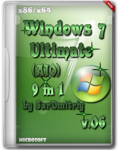 Windows 7 SP1 AIO (9 in 1) x64/x86 by SarDmitriy v.07 (2012/Rus)