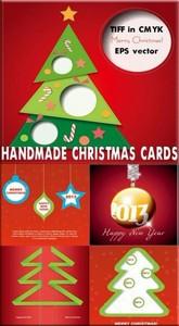 Самодельные карточки с новым годом red