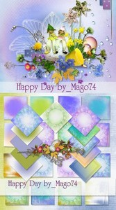 Scrap Set - Happy Day PNG and JPG Files
