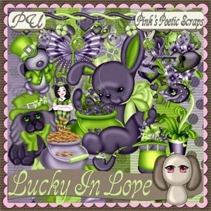 Scrap Set - Lucky In Love PNG and Jpg Files