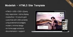 ThemeForest - Modelish - HTML5 Site Template