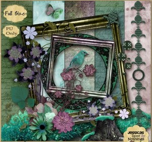 Scrap Set - Flower Extravaganza PNG and JPG Files