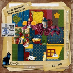 Scrap Set - Joy To The World PNG and JPG Files