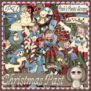 Scrap Set - Christmas Past PNG and JPG Files