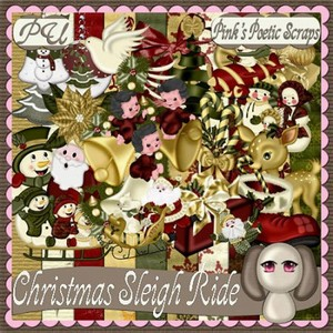 Scrap Set - Scristmas Sleigh Ride PNG and JPG Files