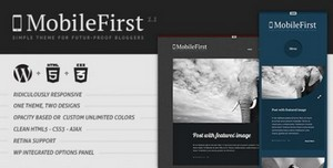ThemeForest - MobileFirst - WP Theme for Future-Proof Bloggers