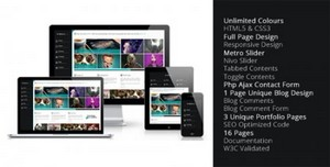 ThemeForest - Metro - Unlimited Colors Full Page Responsive