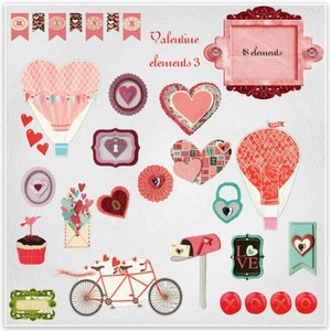 Scrap Set - Valentine Elements 3