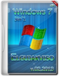 Windows 7 SP1 3in1 Elgujakviso Edition 02.2013 (x64/RUS)