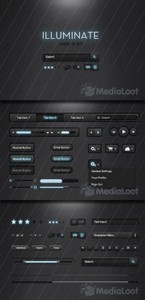 MediaLoot - Illuminate Dark UI Kit - FULL