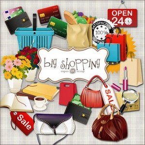 Scrap Set - Big Shopping PNG and JPG Files