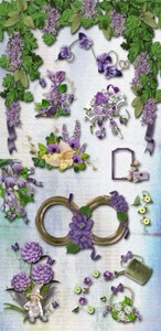 Scrap Set - Spring Fantasy in Purple Style