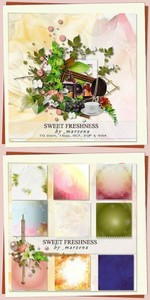 Scrap Set - Sweet Freshness PNG and JPG Files
