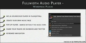 CodeCanyon - Fullwidth Audio Player v1.0.1 - Wordpress plugin