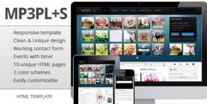 ThemeForest - mp3Plus - Responsive Music HTML template