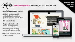 MojoThemes - Artist: A Responsive, Fully Customizeable HTML Template