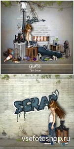 Scrap Set - Graffiti PNG and JPG Files