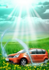 PSD Source - Car Advertising Poster