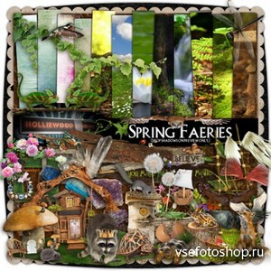 Scrap Set - Spring Faeries