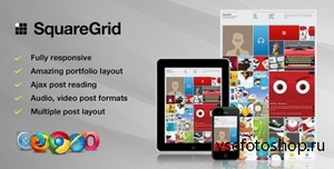ThemeForest - SquareGrid v1.5.1 - Fully Responsive Theme For Portfolio