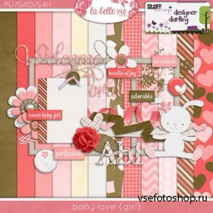 Scrap Set - Baby Love {girl} PNG and JPG Files