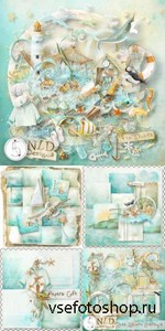 Scrap Set - Sea Whistle PNG and JPG Files