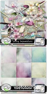 Scrap Set - Spring Impressions PNG and JPG Files