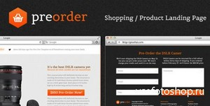 ThemeForest - PreOrder - Shopping / Product Landing Page - RIP