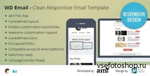 ThemeForest - WD Email - Clearn Responsive Email Template - RIP
