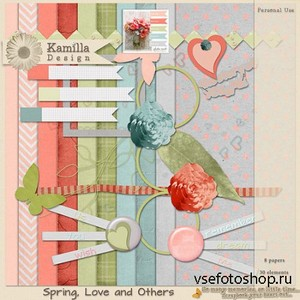 Scrap Set - Spring Love and Others PNG and JPG Files