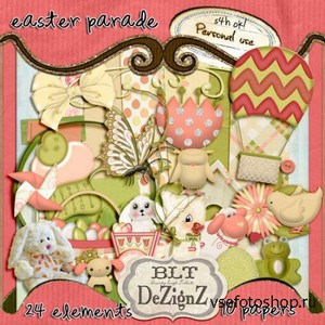 Scrap Set - Easter Parade PNG and JPG Files