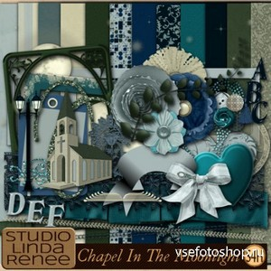 Scrap Set - Chapel In The Moonlight PNG and JPG Files