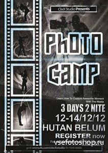 PSD Source - Photo Camp Flyer