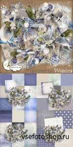 Scrap Set - Together in Winter PNG and JPG Files