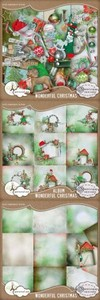 Scrap Set - Wonderful Christmas PNG and JPG Files