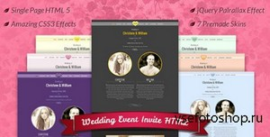 ThemeForest - Wedding Event Invite HTML5 - RIP