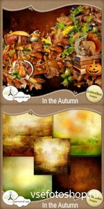 Scrap Set - In The Autumn PNG and JPG FIles