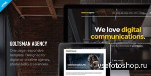 ThemeForest - Goltsman Agency - One Page Responsive Template - RIP