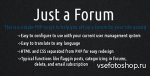 CodeCanyon - Just a Forum v2.1.1
