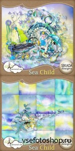 Scrap Set - Sea Child PNG and JPG Files