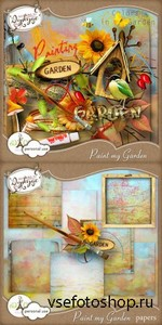 Scrap Set - Paint my Garden PNG and JPG Files